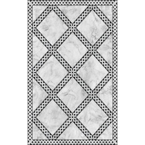 Light Gray Beija Flor Adora Floor Mat     60 x 97 cm