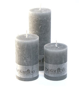 Dim Gray Rustic Candle - Grey