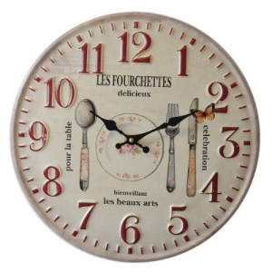 Gray Wall Clock - Les Fourchettes