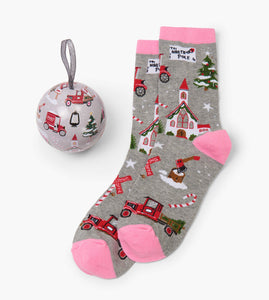 Rosy Brown Womens Socks in Balls