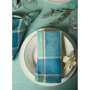 Cadet Blue Layla Patterned Napkins (Set of 4)