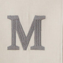 Load image into Gallery viewer, Slate Gray Atlas (white) Custom Monogrammed Hand Towel (Century Bold)
