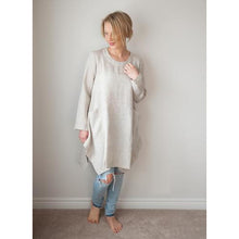 Load image into Gallery viewer, Gray Emma Long Sleeved Tunic
