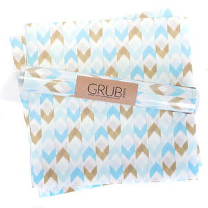 Lavender GRUB PAPER - Blue & Gold Chevron