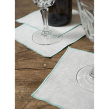 Load image into Gallery viewer, Gray Duet Cocktail Napkins (Set of 4)