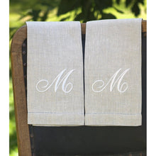Load image into Gallery viewer, Gray Atlas (natural) Custom Monogrammed Hand Towel (Script Font)
