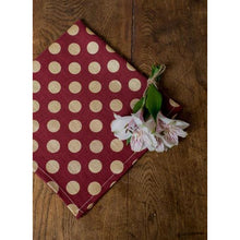 Load image into Gallery viewer, Saddle Brown Dots Napkins (Set of 4)