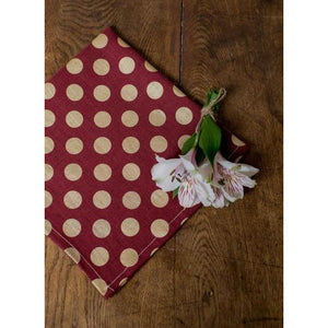 Saddle Brown Dots Napkins (Set of 4)