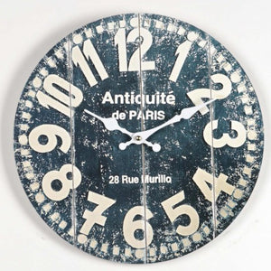 "Dark Slate Gray ""Antique de Paris"" Clock"