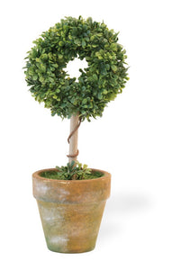 Dark Olive Green CIRCLE TOPIARY
