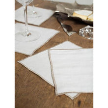 Load image into Gallery viewer, Light Gray Duet Cocktail Napkins (Set of 4)