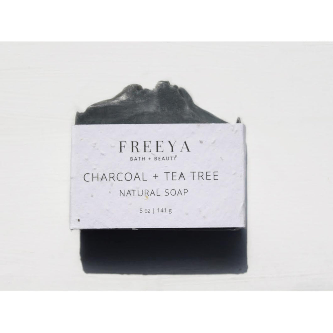 Lavender CHARCOAL AND TEA TREE NATURAL SOAP