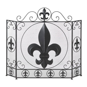 Lavender French Flair Fireplace Screen