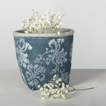 Load image into Gallery viewer, Slate Gray Flower Pot - Blue