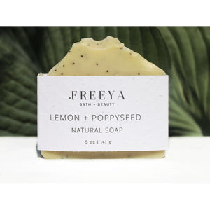 Tan Lemon and Poppyseed Natural Soap