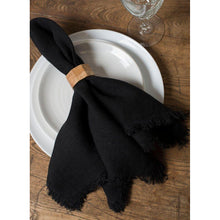 Load image into Gallery viewer, Black Bilbao Napkins (Set of 4)