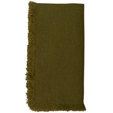 Load image into Gallery viewer, Dark Olive Green Bilbao Napkins (Set of 4)