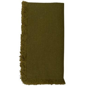 Dark Olive Green Bilbao Napkins (Set of 4)