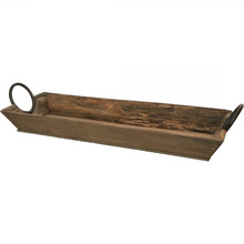 Load image into Gallery viewer, Dark Olive Green Wooden Tray With Handles