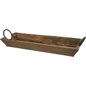 Dark Olive Green Wooden Tray With Handles