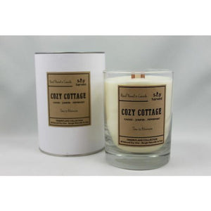 Cassis, Peppermint and Juniper make up this warm and cozy all natural soy wax candle.