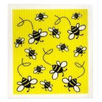 Gold Swedish Dish Cloth - Bees