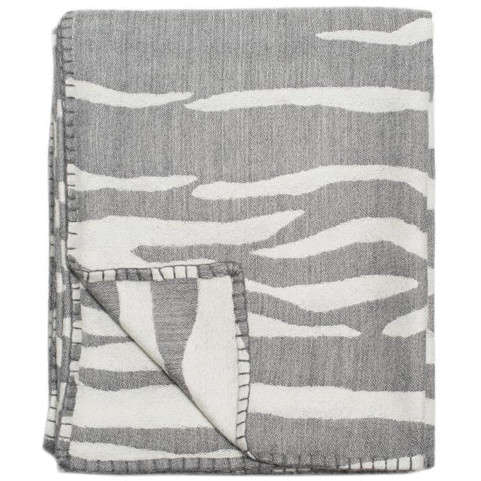 Dark Gray Savannah Throw
