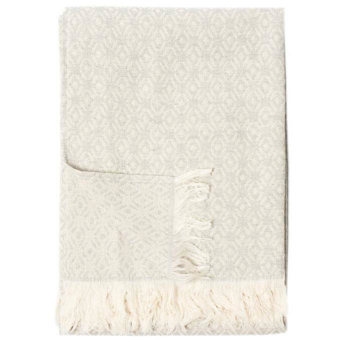 Antique White Diamonds Throw