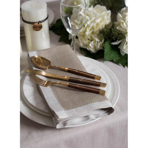 Dim Gray French Melody Napkins (Set of 4)