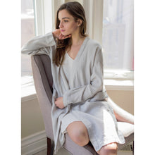 Load image into Gallery viewer, Gray Parisian Bathrobe