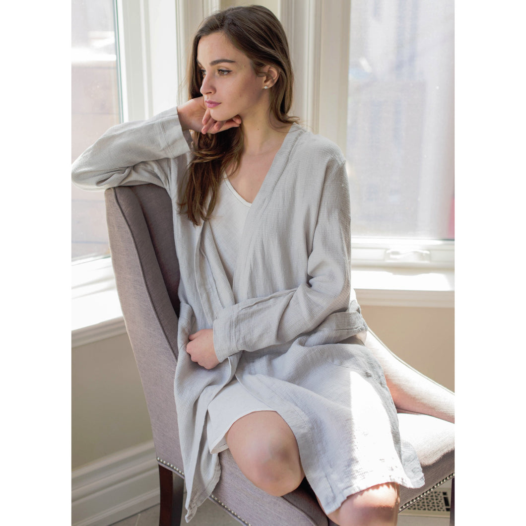 Gray Parisian Bathrobe