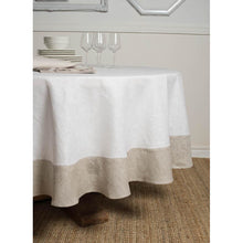 Load image into Gallery viewer, Light Gray Atlas Round Tablecloth 93''