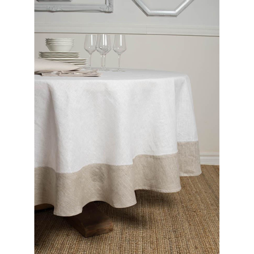 Light Gray Atlas Round Tablecloth 93''