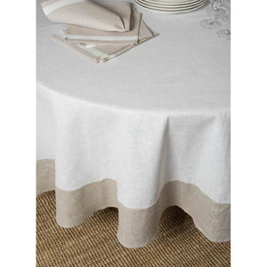 Gray Atlas Round Tablecloth 93''
