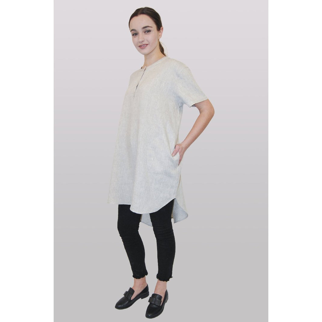 Light Gray Tori Short Sleeved Tunic