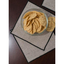 Load image into Gallery viewer, Dark Khaki Duet Cocktail Napkins (Set of 4)
