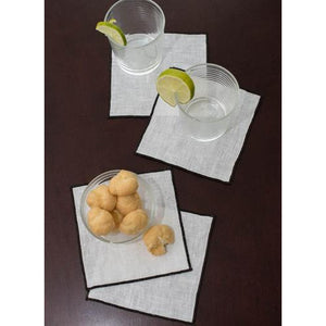 Gray Duet Cocktail Napkins (Set of 4)