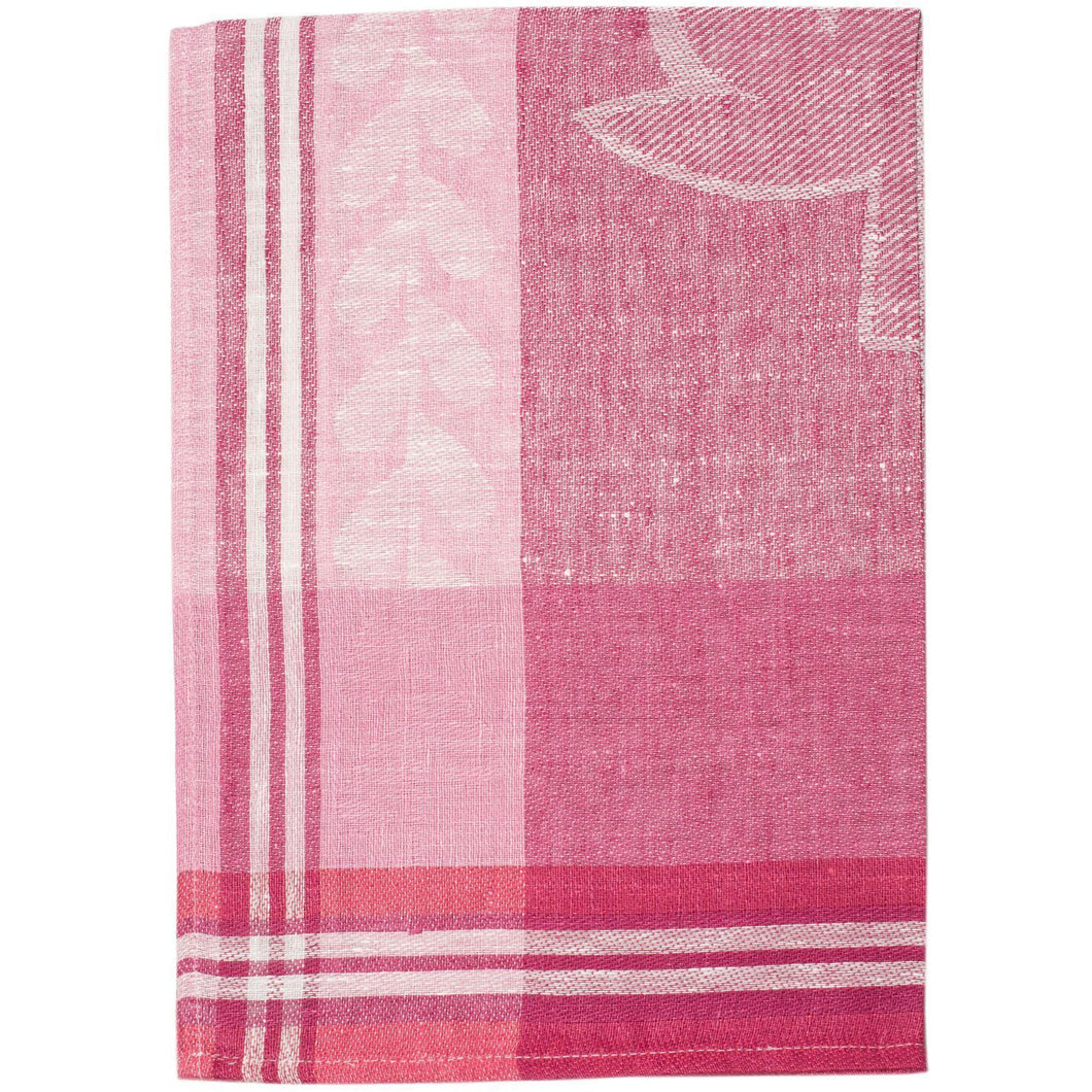 Pale Violet Red Strawberry Fields Tea Towel