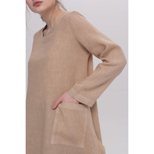 Rosy Brown Emma Long Sleeved Tunic
