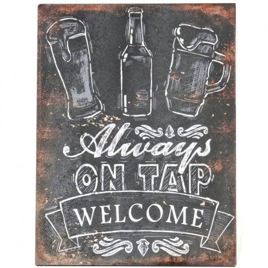 Dim Gray Sign - Always on Tap