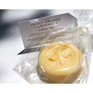 Light Goldenrod SWEET ORANGE + LAVENDER LOTION BAR