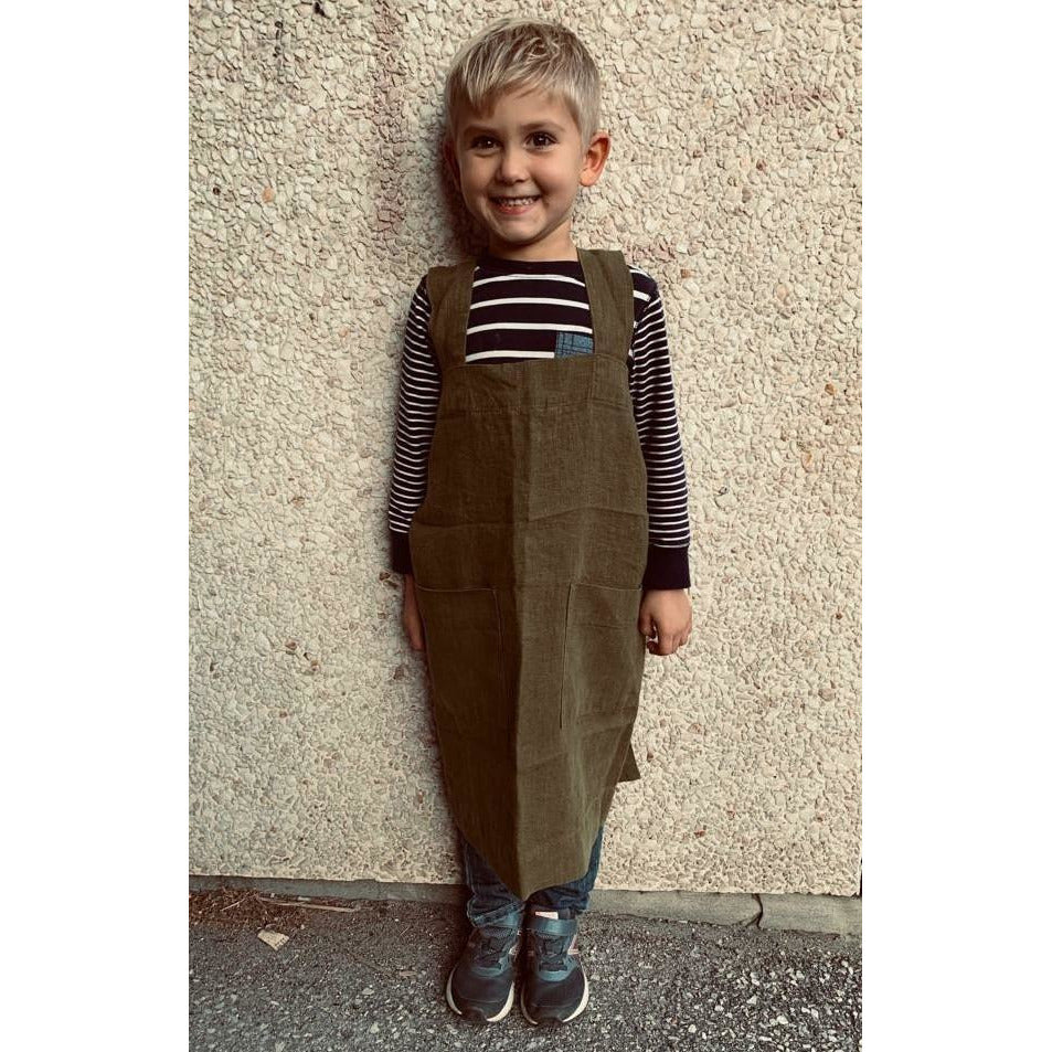 Gray Kids Mini Seville Apron