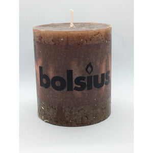 Dark Slate Gray Rustic Candle - Brown