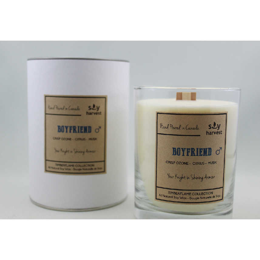 Dark Olive Green Timberflame Soy Candle - Boyfriend