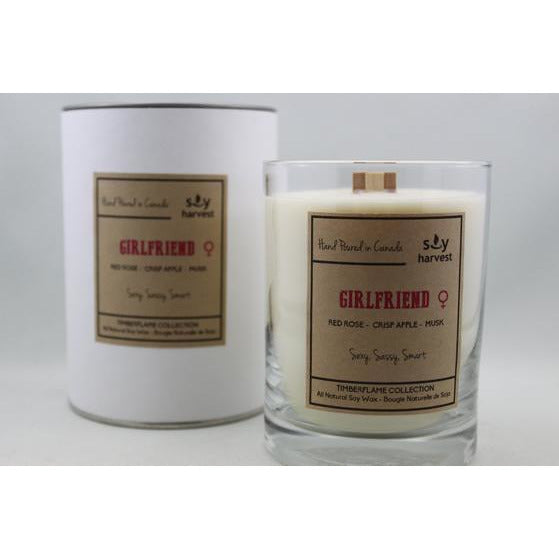 Dark Olive Green Timberflame Soy Candle - Girlfriend