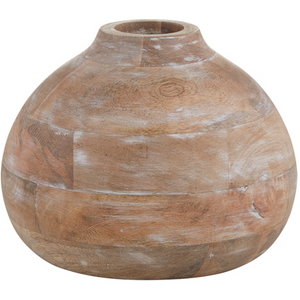 Dim Gray Mango Wood Vase - Large