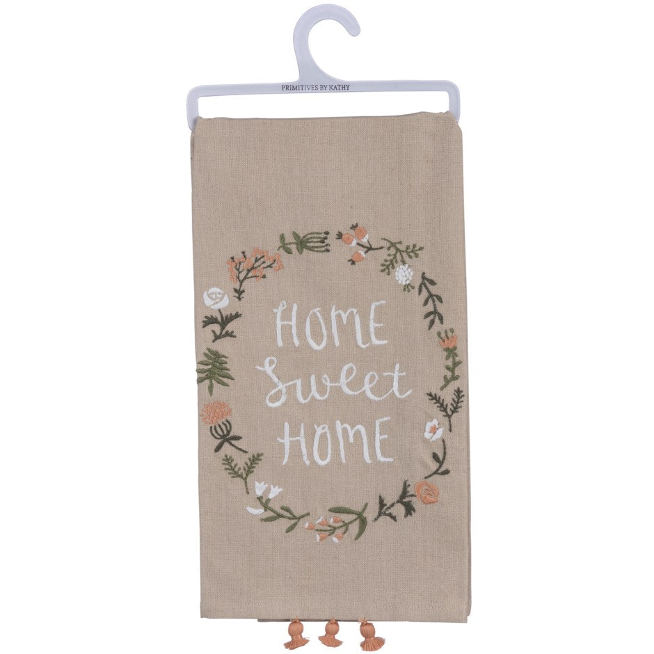 Rosy Brown Dish Towel - Home Sweet Home