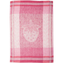 Load image into Gallery viewer, Light Pink Strawberry Fields Tea Towel