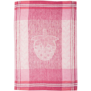 Light Pink Strawberry Fields Tea Towel