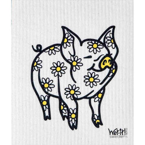 Lavender Wet-it Cloth Daisy Pig